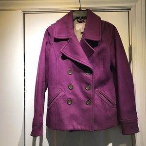 Old Navy Purple Wool Peacoat XS